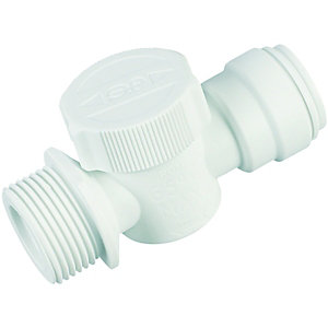 John Guest Speedfit 15APTP Appliance Valve - 15mm