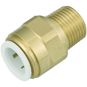 John Guest Speedfit 15MC(1/2)P Cylinder Connector Male - Brass 12 x 15mm