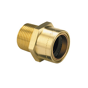 Primaflow Copper Pushfit Straight Male Connector - 1/2in X 15mm