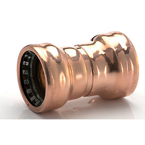 Primaflow Copper Pushfit Straight Coupling - 15mm Pack Of 5
