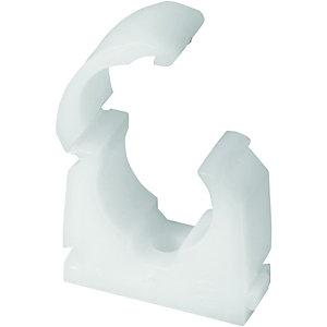 Primaflow Talon White Plastic Pipe Clips - 15mm Pack Of 50