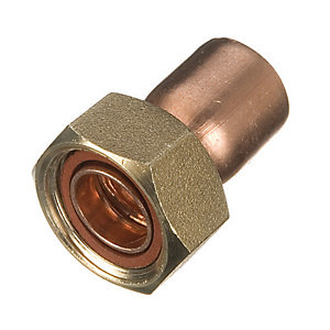 Primaflow End Feed Straight Tap Connector - 22mm Pack Of 2