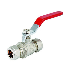 Wickes Lever Compression Ballvalve - 15mm