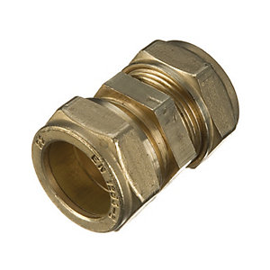 Primaflow Brass Compression Straight Coupling - 22mm