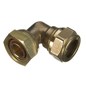 Wickes Compression Bent Tap Connector - 12 x 15mm