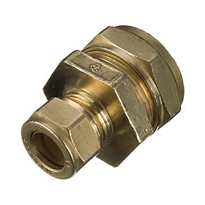 Wickes Brass Compression Reducer Coupling - 22 x 15mm