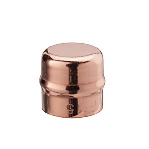 Primaflow Copper Solder Ring End Cap - 22mm Pack Of 2