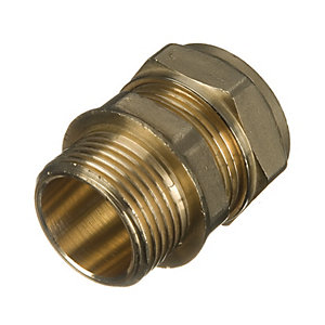 Primaflow Brass Male Iron Straight Coupling - 22mm X 1in Pack Of 2