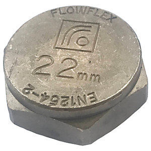 Primaflow Brass Compression Blanking Cap - 22mm