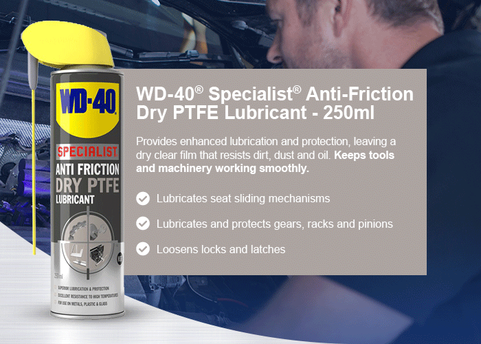 WD-40® Specialist® Anti-friction Dry PTFE Lubricant - 250ml