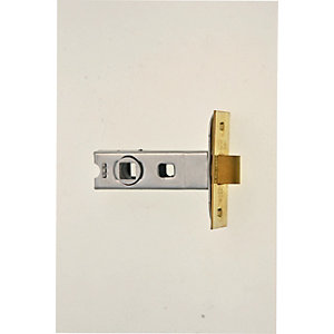 Wickes CE Bolt Through Tubular Door Latch - Brass 64mm