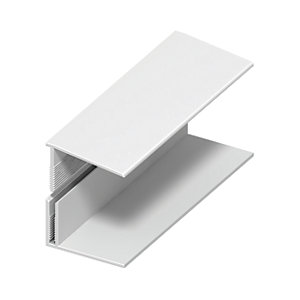 Wickes PVCu White Top/Vertical Edge Cladding Trim 2500mm