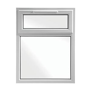 Wickes White uPVC Casement Window - Top Hung 905 x 1010mm