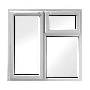 Wickes White uPVC Casement Window - Left Side Hung & Top Hung 1190 x 1010mm