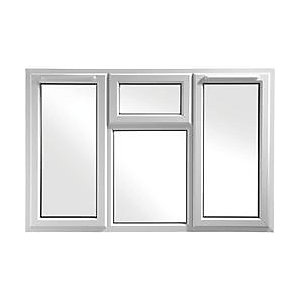 Wickes White uPVC Casement Window - Side & Top Hung 1770 x 1010mm