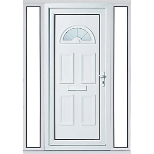 Wickes Carolina 2 Sidelight Upvc Door Set 2085 x 1520mm Right Hand Hung