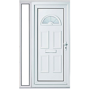 Wickes Carolina 1 Sidelight Upvc Door Set 2085 x 1220mm Right Hand Hung