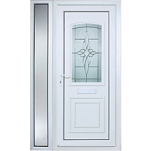 Wickes Medway 1 Sidelight Pre-hung Upvc Door 2085 x 1220mm Right Hand Hung