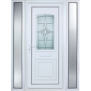 Wickes Medway 2 Sidelight Pre-hung Upvc Door 2085 x 1520mm Left Hand Hung