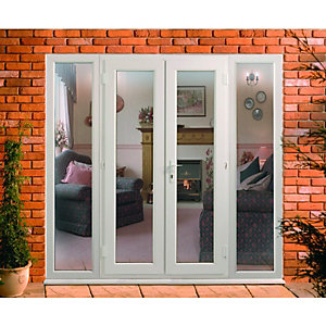 Wickes Upvc Double Glazed French Doors with 2 Side Panels 600mm - 2390 x 2090 mm