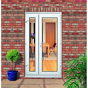 Wickes Upvc Double Glazed French Doors with Offset Slave Door - 1190 x 2090 mm