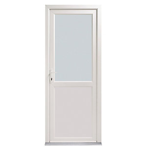 Wickes Tamar Pre-hung Glazed Upvc Back Door 2085 x 920mm Right Hand Hung