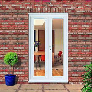 Wickes Upvc Double Glazed French Doors Inwards Opening - 1190 x 2090 mm