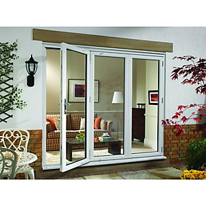 Wickes Millbrook Upvc External Bi-fold Door Set White Right Opening