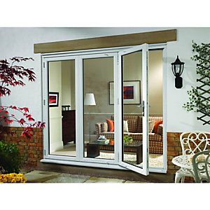 Wickes Millbrook Upvc External Bi-fold Door Set White 6ft Wide Left Opening