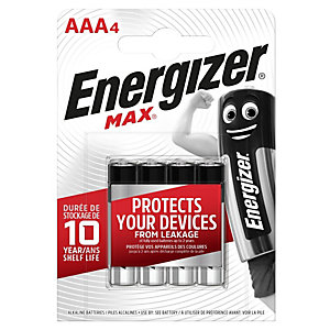 Energizer Max AAA Batteries - Pack of 4