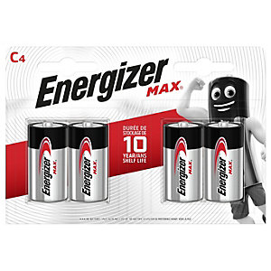 Energizer Max C4 Batteries - Pack of 4