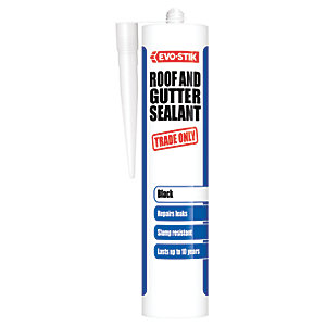Evo-Stik Trade Only Roof & Gutter Sealant - Black 310ml