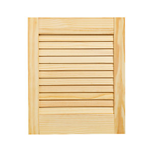 Wickes Pine Closed Internal Louvre Door - 457mm x 381mm
