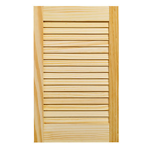 Wickes Pine Closed Internal Louvre Door - 610mm x 381mm
