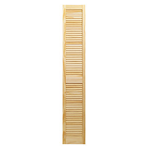 Wickes Pine Closed Internal Louvre Door - 1829mm x 305mm