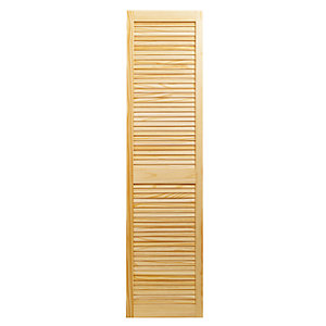 Wickes Pine Closed Internal Louvre Door - 1829mm x 457mm