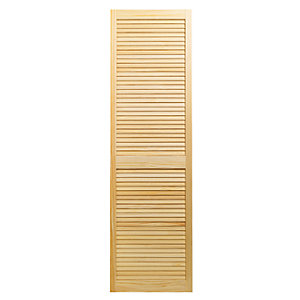 Wickes Pine Closed Internal Louvre Door - 1829mm x 533mm