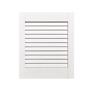 Wickes White Closed Internal Louvre Door - 457mm x 381mm