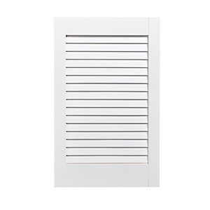 Wickes White Closed Internal Louvre Door - 610mm x 381mm