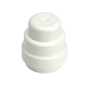 John Guest Speedfit PSE4615W Stop End Cap - 15mm Pack of 10