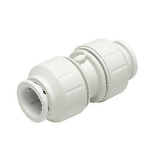 John Guest Speedfit PEM0422W Equal Straight Connector - 22mm Pack of 5