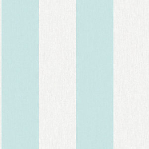 Superfresco Easy Calico Blue Striped Decorative Wallpaper - 10m