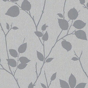 Superfresco Easy Virtue Grey Decorative Wallpaper - 10m