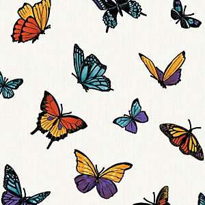 Julien Macdonald Flutterby Butterfly Decorative Wallpaper - 10m