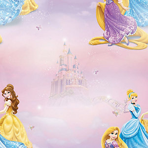 Disney Pretty As A Princess Pink Decorative Wallpaper - 10m
