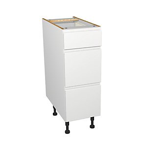 Wickes Madison White Gloss Handleless Drawer Unit - 300mm