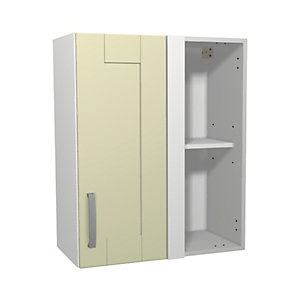 Wickes Ohio Cream Shaker Corner Wall Unit - 600mm