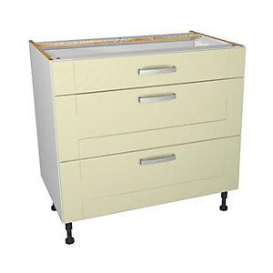Wickes Ohio Cream Shaker Drawer Unit - 900mm (Part 1 of 2)