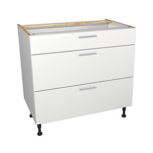 Wickes Orlando White Gloss Slab Drawer Unit - 900mm (Part 1 of 2)