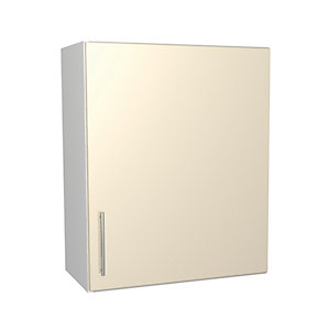 Wickes Orlando Cream Gloss Slab Wall Unit - 600mm